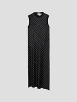 DKNY Pinstripe Slip Dress With Seaming Detail