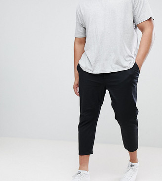 ASOS DESIGN Plus skinny super crop chinos in black