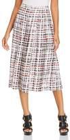 Burberry Farnborough Pleated Midi Skirt