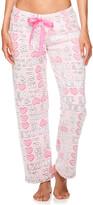 Sleep & Co Women's Sleep Bottoms LTPNK - Light Pink 'Sleep' Tie-Waist Plush Pajama Pants - Juniors
