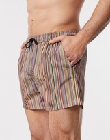 Paul Smith Ps  classic stripe swim shorts in multi