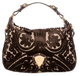 Etro Embossed-Trimmed Velvet Bag