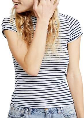 Free People Night Sky Stripe T-Shirt