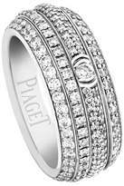 Piaget Possession Full Pavé Diamond Band Ring in 18K White Gold, Size 54