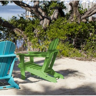 Panama Jack Plastic Folding Adirondack Chair Outdoor Color: Lime