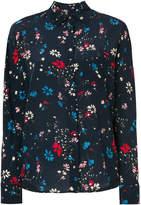 Balenciaga Curved Hem floral shirt