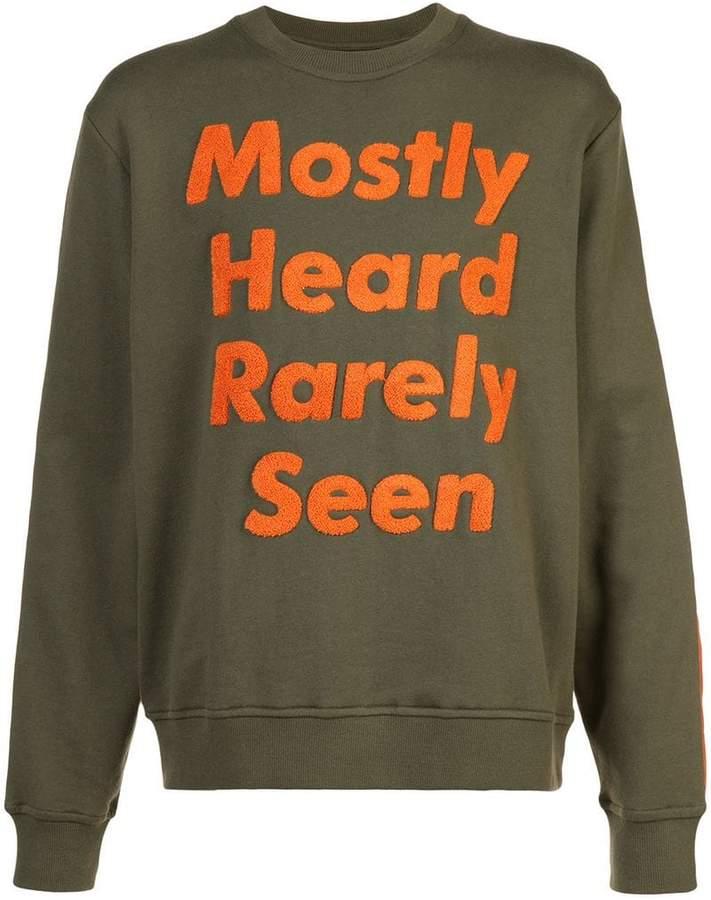 Mostly Heard Rarely Seen logo patch sweatshirt