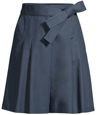 Lafayette 148 New York Arthur Pleated Tie Shorts