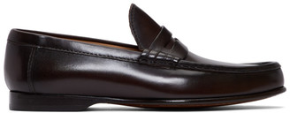 Ralph Lauren Purple Label Brown Chalmers Penny Loafers