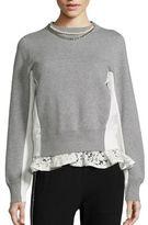 Sacai Pearl & Lace Colorblock Sweatshirt