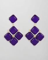 Kendra Scott Cushion Cabochon Earrings, Purple