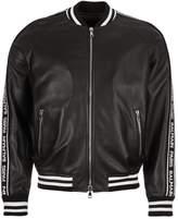 Balmain Leather Bomber Jacket - Black