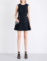 Alexander McQueen Military peplum wool mini dress