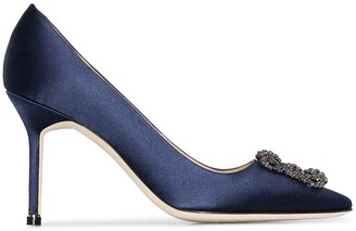 Manolo Blahnik Hangisi 95mm crystal pumps