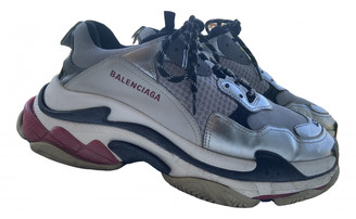 Balenciaga Triple S Silver Cloth Trainers