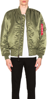 Alpha Industries MA-1 Blood Chit Bomber Jacket in Sage | FWRD