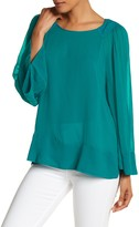 Plenty by Tracy Reese Keyhole Peasant Blouse