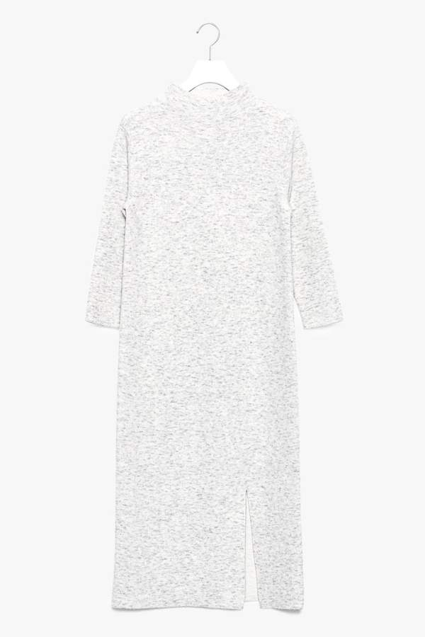Genuine People Wool Blend 3/4 Sleeve Sweater Dress with Slit