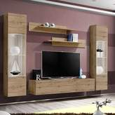Orren Ellis Volz Floating Entertainment Center for TVs up to 70 inches Orren Ellis Color: Oak