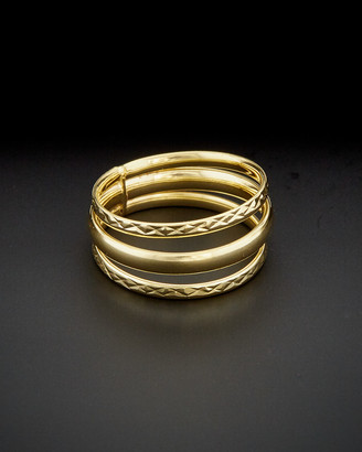 Italian Gold 14K Polished & Diamond-Cut Triple Band Ring