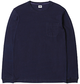 Edwin Marvin Long Sleeve T-shirt, Dark Indigo