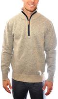 Beige Marled Half-Zip Pullover