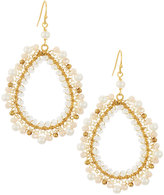Nakamol Pearl & Crystal Teardrop Earrings