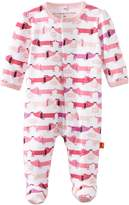 Magnificent Baby Girls Love Birds Dots Footie NB