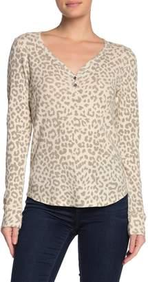 Lucky Brand Leopard Print Thermal Shirt