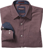 Johnston & Murphy Tonal Diamond Print Shirt