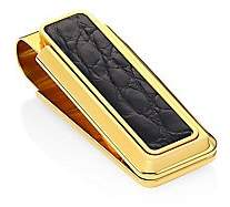 Saks Fifth Avenue Goldtone Alligator Money Clip