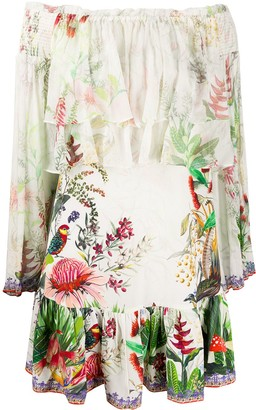 Camilla Faraway Tree-print silk dress