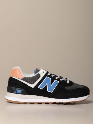 New Balance 574 Sneakers In Suede And Canvas