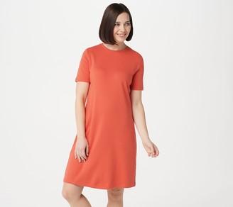 Isaac Mizrahi Live! Essentials Short-Sleeve T-Shirt Dress