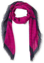 Mulberry Deep Pink Tree Print Scarf