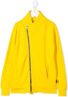Nununu jersey asymmetric zip-up sweatshirt