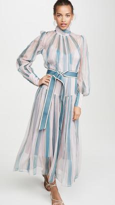 Zimmermann Wavelength Roll Neck Midi Dress