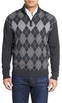 Cutter & Buck 'Blackcomb' Quarter Zip Argyle Knit Pullover