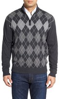 Cutter & Buck Men's 'Blackcomb' Quarter Zip Argyle Knit Pullover