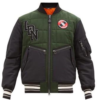 Burberry Kingsbury Wool Varsity Jacket - Mens - Green Multi