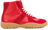 Maison Margiela lace-up boot sneakers - women - Leather/rubber - 37