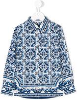 Dolce & Gabbana Majolica print shirt - kids - Cotton - 4 yrs