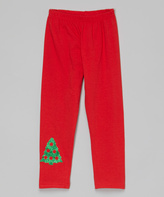 Beary Basics Red Christmas Tree Leggings - Infant Toddler & Girls
