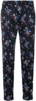 MSGM track flower logo pants - women - Polyamide/Polyester - 40
