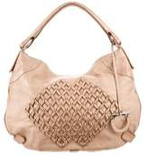 Salvatore Ferragamo Metallic Embroidered Hobo