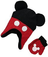 "Disney Mickey Mouse Little Boys' Toddler ""Mousy Look"" Beanie and Mittens Set"