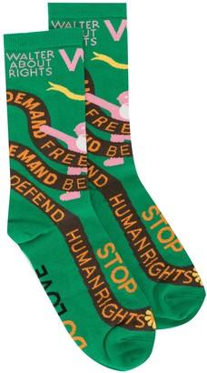 Walter Van Beirendonck W:A.R. knitted socks