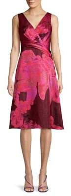 Adrianna Papell Floral Organza Sleeveless Dress