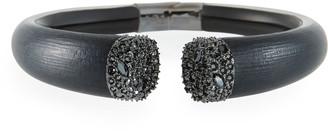 Alexis Bittar Crystal Encrusted Break Hinge Bracelet, Black