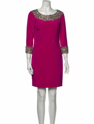 Marchesa Silk Mini Dress Purple